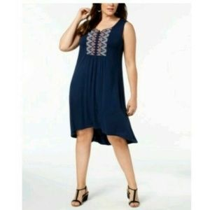 Style & Co Women's Embroidered  Swing Dress
